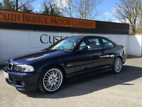2002 02 BMW 330Ci SPORT 3.0 AUTO FULL M TEC KIT AND LEATHER ONLY 111K FSH BLUE