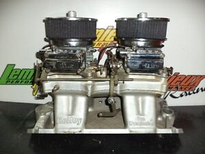 INTAKE 2X4 TUNNEL RAM SMALL BLOCK GM CHEVROLET HOLLEY COMPLET
