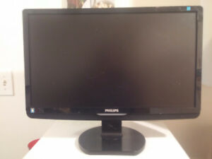 """23"""" Philips HDMI LCD Monitor (Turns on for 2-3 seconds)"""