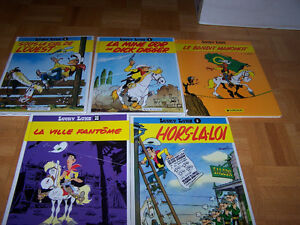 5 large FRENCH hardcover LUCKY LUKE by Morris