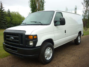 2009 Ford Econoline E-250 CARGO VAN w/SHELVING, PARTITION