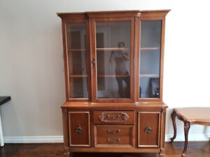 Modern and Elegant Wood Bookcase/ Hutch