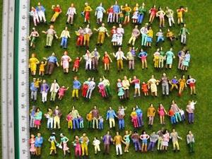 P100W 100pcs Model Trains 1:87 Painted Figures HO TT