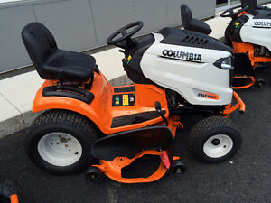 "Columbia lawn tractor 54"" cut, 0% financing and 3 years warranty"
