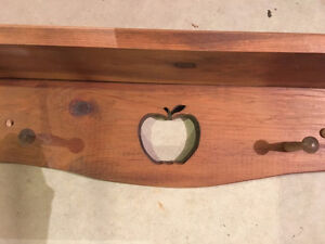 Apple themed wheel barrel, shelf & collectibles Windsor Region Ontario image 4