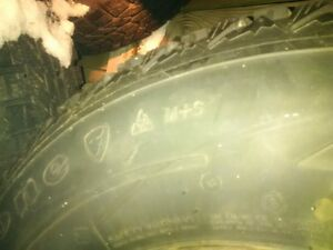 Jeep 225 75 16 firestone winterforce tires and rims