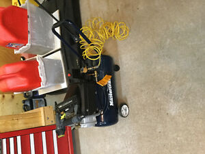 8 gallon air compressor with gun and saw St. John's Newfoundland image 2