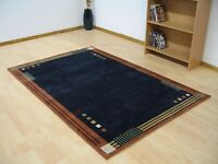 Beautiful 100% Wool Modern Contemporary Persian Rug Brand New Navy Blue or Red #258/259