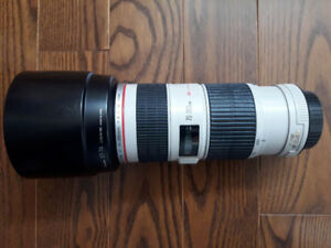 Canon EF 70-200mm f4L IS With 67mm UV