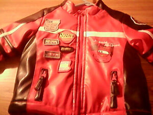 Boys 12-18months Leather Disney Cars racing jacket $20