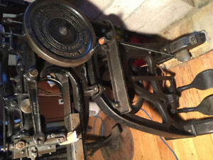 Pearson # 6 leather sewing machine