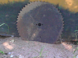 17 INCH OLD SAW BLADE FOR TOLE PAINTING