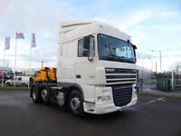 468000KMS...2011 (61) DAF FTG XF105.460 6X2 SPACECAB TRACTOR UNIT