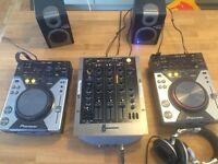 CDJ400 setup with Numark mixer