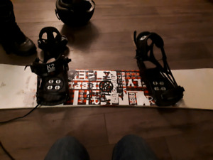 """Firefly board 160"""", Bindings, Boots and Helmet/Goggles"""