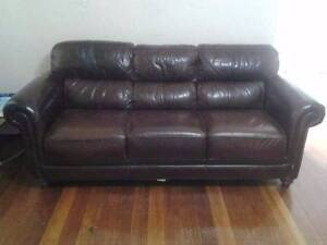 Leather sofa Burwood Burwood Area Preview