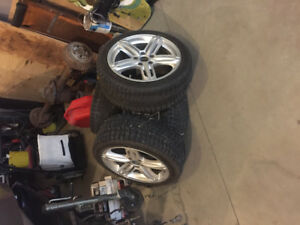 "REDUCED 17"" (inch) aftermarket rims and tires off volkswagen"