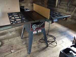 "10"" sears craftsman cabinetmakers table saw and stand"