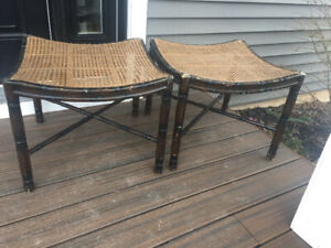 Two brown stools/seats $50 set of 2