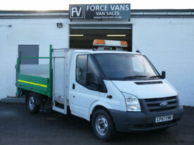 FORD TRANSIT 2.4TDCi T350 LWB DROP SIDE PICKUP TAIL LIFT WORK DELIVERY VAN TRUCK