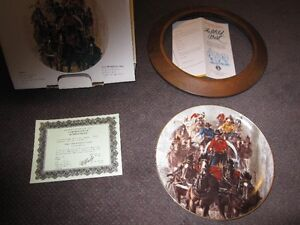 Calgary Stampede Collector Plate - The Chuckwagon Race - 1983