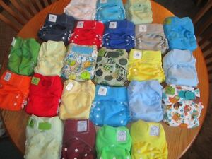 Set of 24 cloth diapers