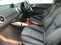 audi a1 sport interior front and back seats.