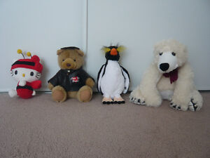 stuffed animals $1 each, some are brand new with tags