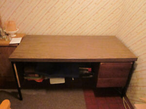 Large 3 drawer desk for sale.