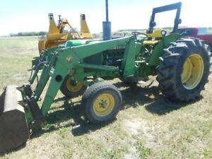 JOHN DEERE 2130 TRACTOR with 146 loader.Plus other Equipment