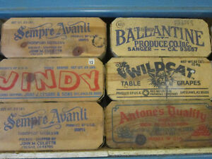 Vintage California Table Grape Boxes. ** ONLY $10. Each **