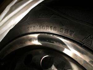 4 Snow tires on rims (2010 Corolla) 215/60R16 95T