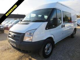 2012 62 FORD TRANSIT 350 2.2 TDCI LWB CREW VAN MEDIUM ROOF 23235 MILES ONLY DIES