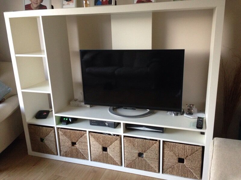 expedit ikea tv storage unit. Black Bedroom Furniture Sets. Home Design Ideas