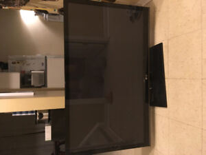 55 in flat screen glass screen