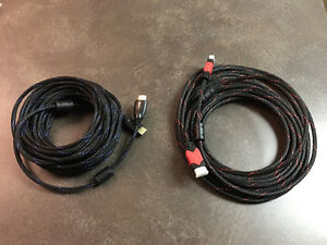 2 new 30' HDMI cables