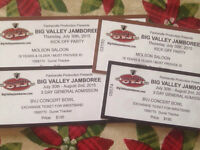 two weekend pass and kick off party  for BVJ 300 each obo