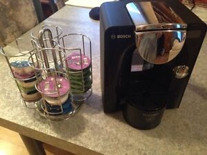 Tassimo with stand and coffee