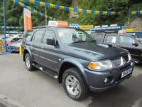 2007 56 MITSUBISHI SHOGUN SPORT 2.5 TD TROJAN IN GREY # FULL LEATHER #
