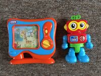 little tikes talking robot and musical tv