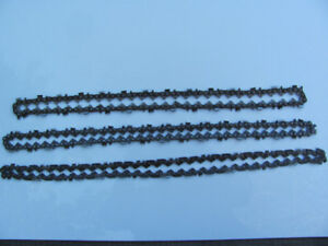 3 Used Chainsaw Chains