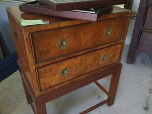 Vintage Burl Wood Jewelry Chest.