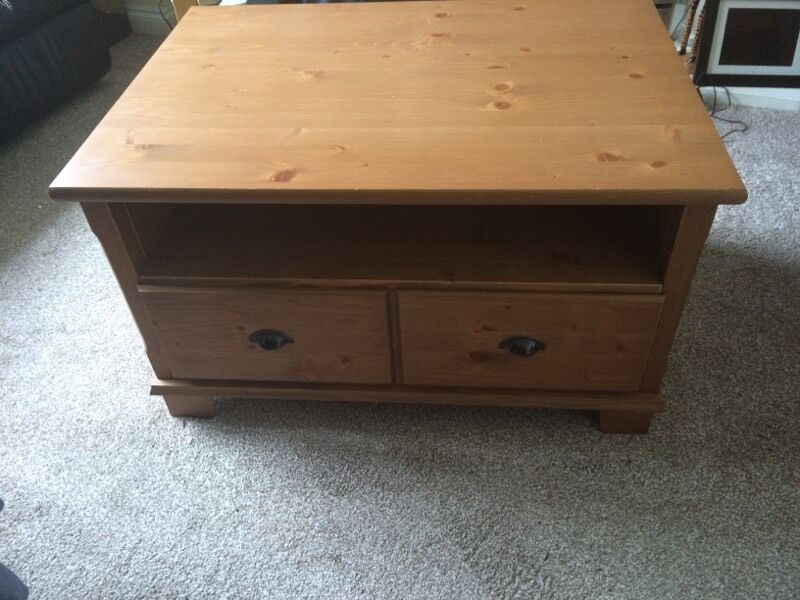 Ikea Markor Antique Stain Large Pine Coffee Table Sold