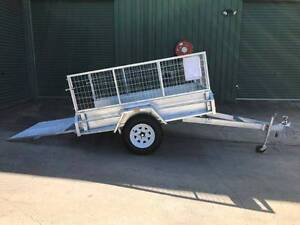 7x4 Trailer HD Built-Incl 600mm Cage with Full width Loading Ramp Oakey Toowoomba Surrounds Preview