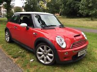 2004/54 REG MINI COOPER S ** SUPERCHARGED ** RED/WHITE ** £1995