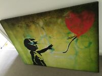 Large Banksy Ballon girl love canvas art