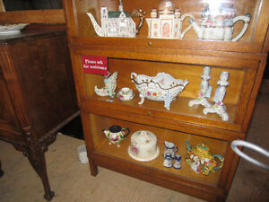 Antique & Collectibles.Glassware, dresden pottery, Lamps, Tins,