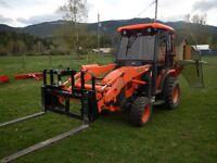 For Rent Tractor Loader Backhoe Flatdeck Trailer & Attachments