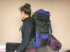 North Face backpacking backpack unisex