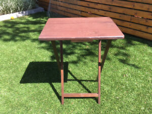 Small folding side/TV table